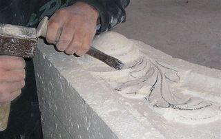 Atelier de sculpture sur pierre