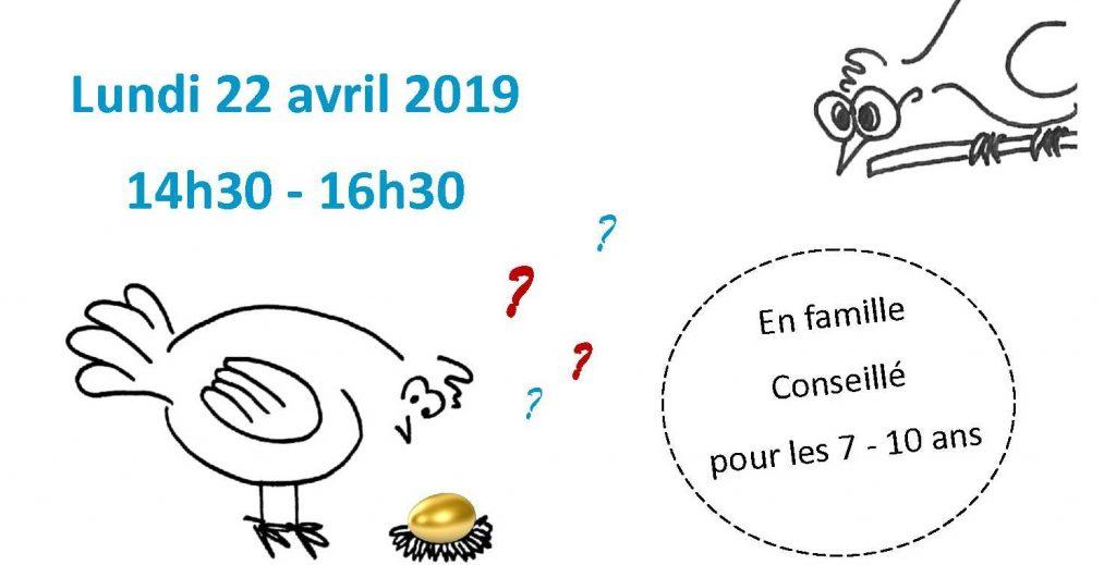 J'oeufs d'énigmes à l'abbaye de Flaran, venez vous creuser la coquille – Lundi 22 avril de 14h30 à 16h30